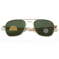 Мужские солнцезащитные очки Original Pilot Green Gold черные
