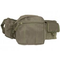 """Тактическая поясная сумка """"MIL-TEC"""" зеленый нейлон Германия"""