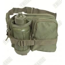 """Тактическая поясная сумка с флягой """"MIL-TEC"""" зеленый полиэстер Германия"""