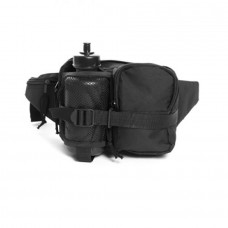 """Тактическая поясная сумка с флягой """"MIL-TEC"""" черный полиэстер Германия"""