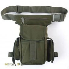Тактическая поясная сумка зеленый нейлон