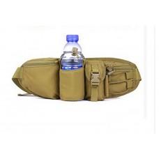Тактическая поясная сумка хаки зеленый нейлон