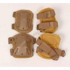 Бронещитки (наколенники и налокотники) коричневые