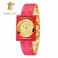 Женские механические часы Tinlap Pink, Green, Leopard