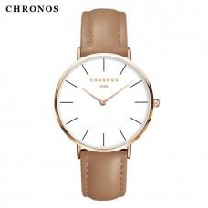 Женские механические часы Chronos Black, Gray, Pink, Brown