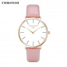 Женские механические часы Chronos Black, Gray, Pink, Red