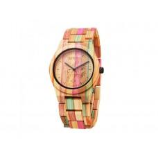 Женские механические бамбуковые часы Bewell Rainbow