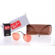 Женские солнцезащитные очки Ray Ban Round Metal Orange