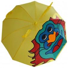 Детский зонтик-трость Дракон желтый