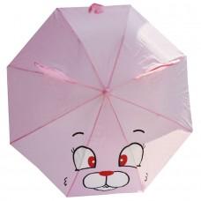 Детский зонтик-трость Зайка розовый