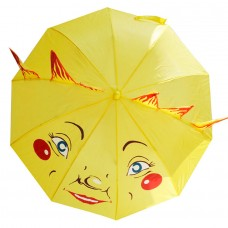 Детский зонтик-трость Солнышко желтый