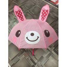 Детский зонтик-трость Зайчик розовый