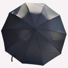 Мужской зонт Astra черного цвета с деревянной ручкой