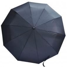 Мужской зонт Austin черного цвета с деревянной ручкой-крюком