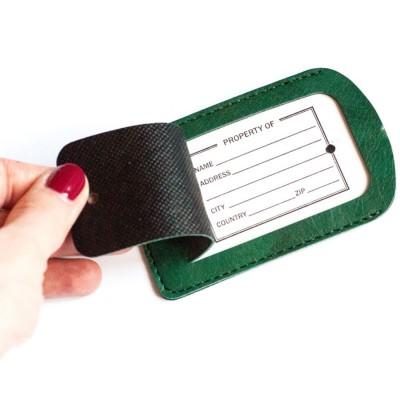 Бирка на чемодан зеленая