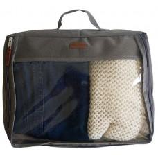 Большая дорожная сумка-органайзер для вещей Эстель серого цвета