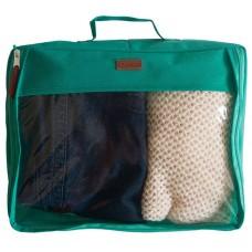 Большая дорожная сумка-органайзер для вещей Селина бирюзового цвета