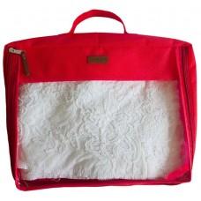 Большая дорожная сумка-органайзер для вещей Сюзанна красного цвета