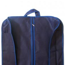 Объемный чехол для одежды с ручками Божена синий