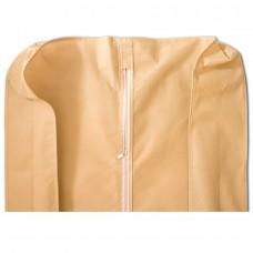 Объемный чехол для одежды с ручками бежевый размер 150x60x15 прямоугольный