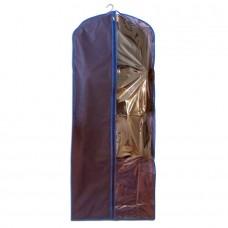 Чехол для одежды синий размер 150x60 прямоугольный