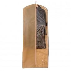 Чехол для одежды бежевый размер 150x60 прямоугольный
