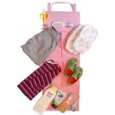 Подвесной органайзер для шкафчика в детский сад розовый