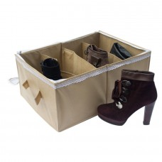 Органайзер для обуви на 4 пары Венера с крышкой бежевый