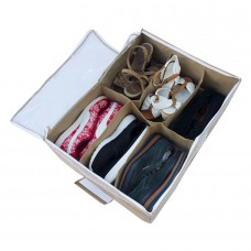 Органайзер для обуви на 6 пар Вероника с крышкой бежевый