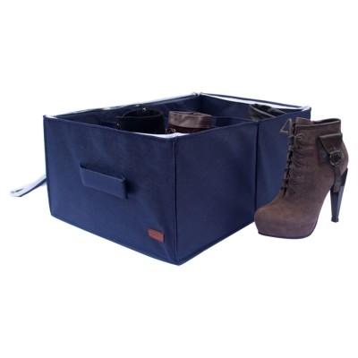 Органайзер для обуви на 4 пары Велория с крышкой джинс