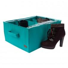 Органайзер для обуви на 4 пары Лазурь с крышкой