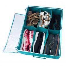 Органайзер для обуви на 6 пар Лазурь с крышкой