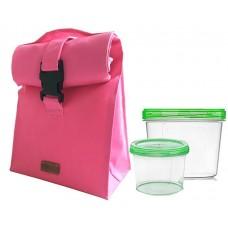 Термосумка для обеда Белиз розовая