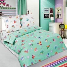 Комплект детского постельного белья Бусинка зеленый поплин