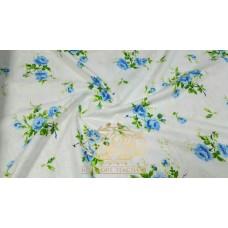 Комплект постельного белья Голубая роза фланель(байка)