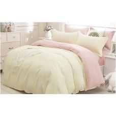Комплект постельного белья Шампань-роза микс лен