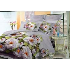 Комплект постельного белья Белые цветы микросатин