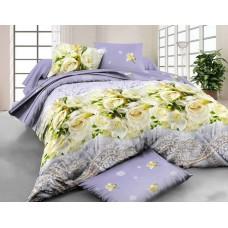 Комплект постельного белья Белые розы микросатин