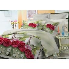 Комплект постельного белья Бордовые розы микросатин