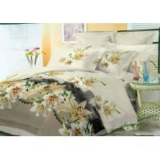 """Комплект постельного белья """"Лилии"""" микросатин все размеры"""