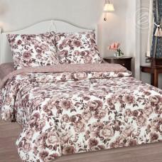 Комплект постельного белья Визави коричневый поплин