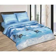 Комплект постельного белья Дельфины поплин