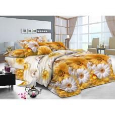 """Комплект постельного белья  """"Охра"""" ранфорс все размеры"""